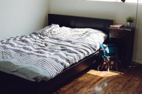 mattress against the wall
