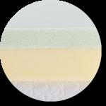 Polyurethane mattress topper material