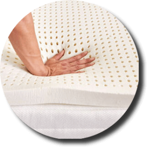 natural latex mattress topper material