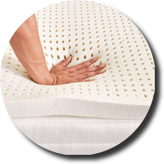 natural latex mattress topper material