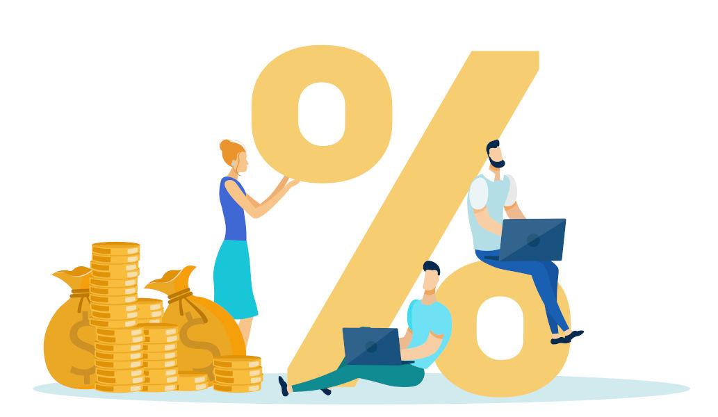 percentage v price
